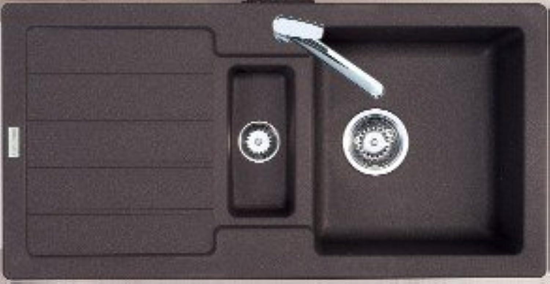 Einbauspüle BALI 60C granit espresso eurogranit Siebkorb-Excenter 3 1 2 Zoll