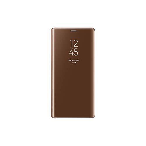 Samsung Clear View Hülle 'EF-ZN960' mit Standfunktion für Galaxy Note9, Braun