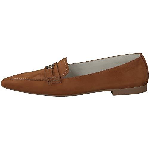 Paul Green Damen SUPER Soft Slipper 2630, Frauen Slipper, schlupfhalbschuh Slip-on College Schuh Loafer businessschuh weibliche,Cognac,4 UK / 37 UK
