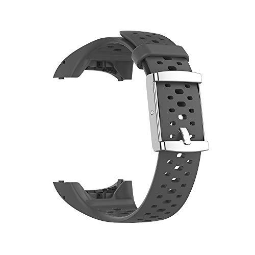 KINOEHOO Correas para relojes Compatible con Polar M400 M430 Pulseras de repuesto.Correas para relojesde siliCompatible cona.(Gris)