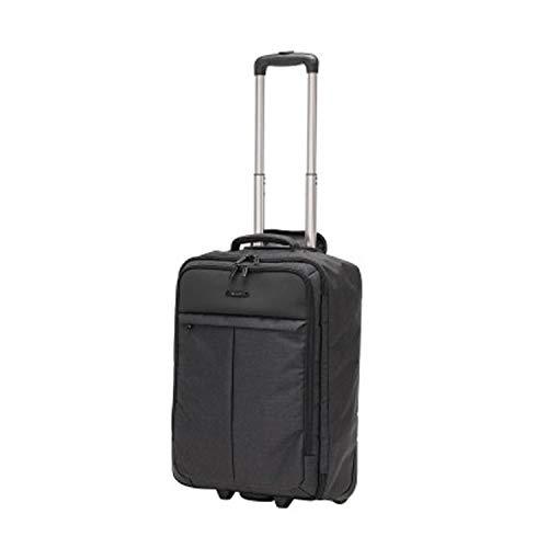 Trolley cabina transportable en mochila redonda negra equipaje de mano porta PC y tablet