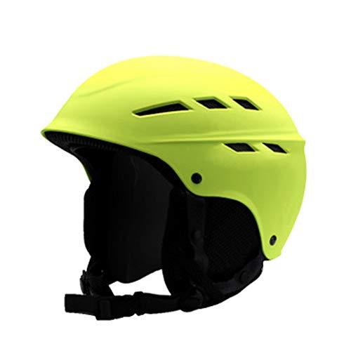 GXYAS Fahrradhelm, Motorradhelm,Skihelm Eltern-Kind-Outdoor-Sportgeräte mit Einzel- und Doppelboard Gehörschutz-Yellow-L(56-62cm)
