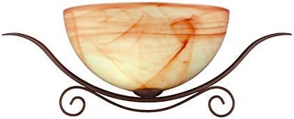 WOFI 4128.01.09.0000 - Lámpara de pared, casquillo E27, bombilla de 60 W, 240 W, color marrón