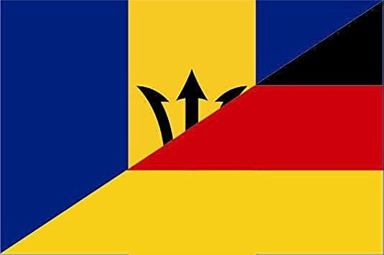 Haute Qualité pour bateau U24Drapeau de l'Allemagne Drapeau de la Barbade drapeau 120x 180cm