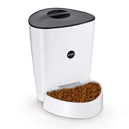 isYoung Comedero Automático 4L de Alimentos para Mascotas Gatos y Perros Alimentador de Mascotas de Control Electrónico