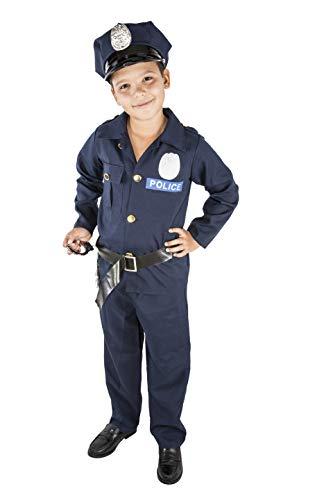 Costumizate! Disfraz de Policia Talla 3-4 Especial para niños Fiestas de Disfraces o Carnaval