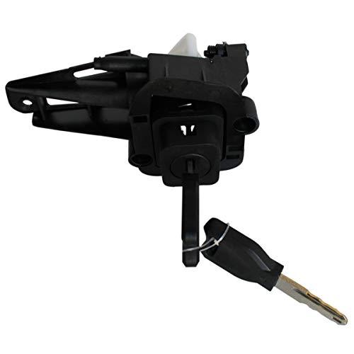 APDISTRIBUTION Mécanisme de Serrure poignée de Coffre Barillet avec Bouton Poussoir et 2 clés pour Clio 2 Phase 1 idem 7701471225 256516