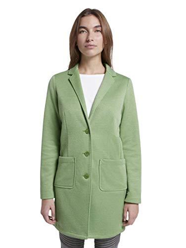 TOM TAILOR Damen Jacken & Jackets Jersey Blazermantel Sundried Turf Green,M