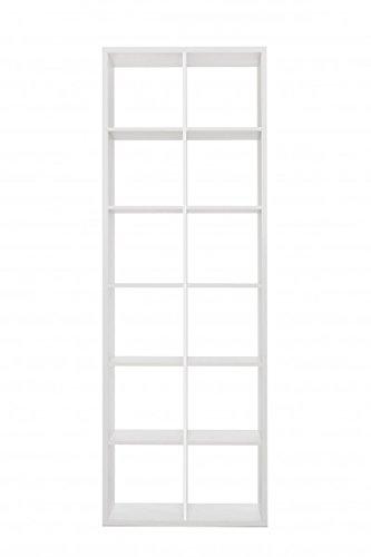 Jadella Regal 'Glenn- Weiß' Raumaufteiler Bücherregal Größenauswahl Modern, Maße:73x210x33