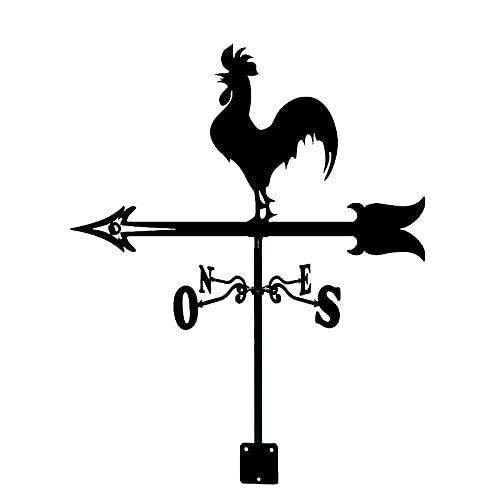 Tiempo Pal Booster Croter Croter Croters Acero Inoxidable WeatherVane Indicador de dirección de viento Creativo Aviones Esculturas WeatherCock for al aire libre Animal Soporte Decoración Artesanía