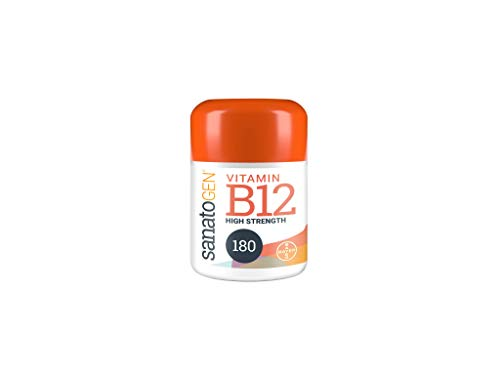 Sanatogen Vitamin B12 100 Microgram High Strength Tablets for Men & Women Suitable for Vegans & Vegetarians, B12 Supports Energy Release 180 Tablets 6 Months Supply