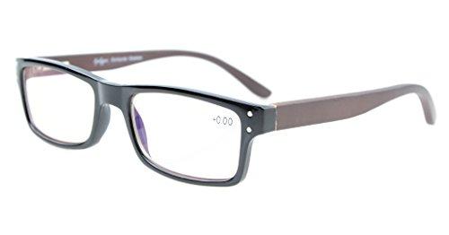 Eyekepper Computer-lezer kwaliteit voorjaar scharnieren hout wapens mannen vrouwen amber getinte computer leesbril