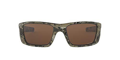 Oakley Men's Fuel Cell Non-Polarized Iridium Rectangular Sunglasses, Dissolve Bare Camo, 60.0 mm