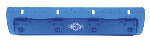 Wedo 678403 4 poches Papier Punch Perforatrice en plastique pour boîte de classement gradué en degrés 30 cm Bleu