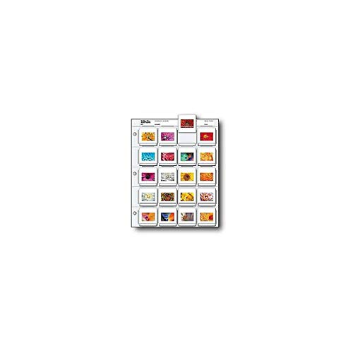 """Print File 35mm Slide Pages Holds Twenty 2x2"""" Mounted Transparencies, Top Loading, Pack of 25"""