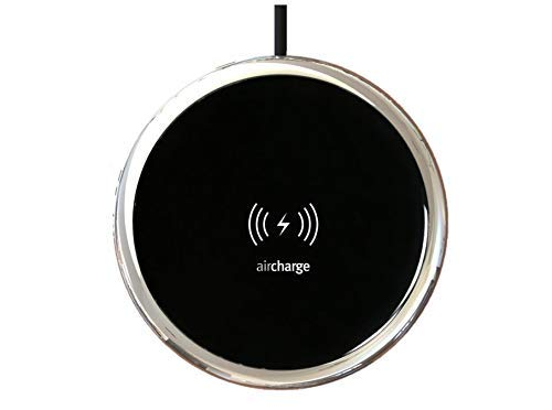 Aircharge - Cargador inalámbrico rápido para iPhone XS/XS Max/XR/8/8 Plus, AirPods, Samsung Galaxy S10/S10Plus/S10e/S9, color negro