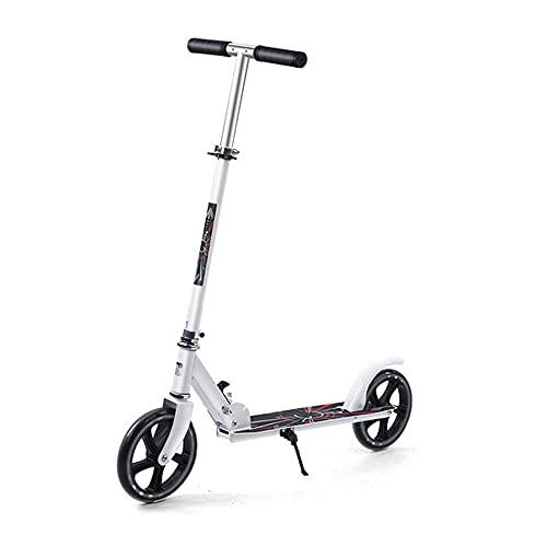 Oeternity Scooter Plegable para Adolescentes Y Adultos, Levantamiento Portátil De Dos Ruedas, Mango Plegable, Ruedas Grandes, Grandes Scooters para Adultos Y Adolescentes