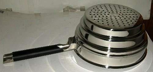 Cookware company - Dampfgarer - Dampgareinsatz & Sieb - 10 cm hoch - passend für Töpfe mit Ø 16 cm, 18 cm, 20 cm