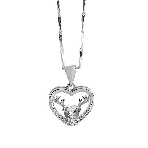 Regalos de joyería para mujeres, conjunto de collar de pulsera portátil, combinación de collar de pulsera de tamaño pequeño, para damas, regalo(blanco)