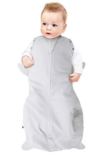 Wallaboo Baby Schlafsack, Der idealer erster Pücksack für Ihre Kleinen 100% Baumwolle, Super für Babys die oft wach werden, Passend auch für alle Babyschale, Maße S: 0–3 Mon., 3 – 6 kg, Farbe: Silber