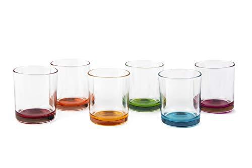 Excelsa Marrakech - Juego de 6 vasos de agua, cristal