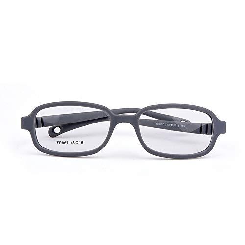 Baby Mädchen & Jungen optische Brille Größe 46/16 mit Band ohne Schraube Einteiler Kinderbrille grau
