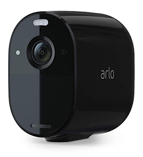 Arlo Essential Spotlight Camera - 1 Pack - Wireless Security, 1080p Video, Color Night Vision, 2 Way Audio, Wire-Free, Direct to WiFi No Hub Needed, Works with Alexa, Black - VMC2030B