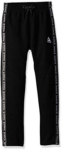 Reebok Boys' Big Athletic Pant, Jacquard Taping Black, 18/20