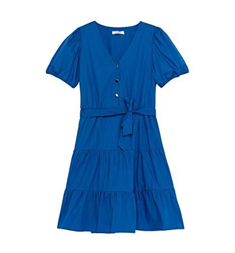 Promod Unifarbenes Babydoll-Kleid Blau 38