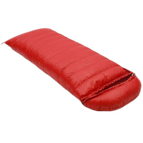 sleeping bag Portable Adult Four Seasons climbing envelope ultralight down (capacity: 3.0 kg, color: RED1)