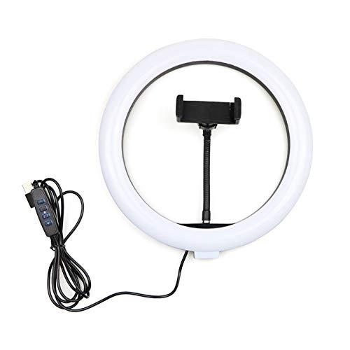 Estudio profesional de fotos de 10 pulgadas LED de selfie Luz con la lámpara de anillo de trípode luces de luz de maquillaje de maquillaje con soporte para Youtube Video TikTok ( Color : No Tripod )