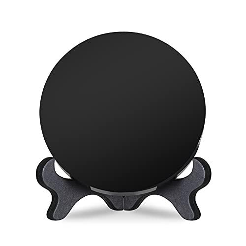 Espejo de obsidiana negro para escaneo agic Show Scrying Espejo Alchemy/Yoga Energy Obsidian (15 cm)