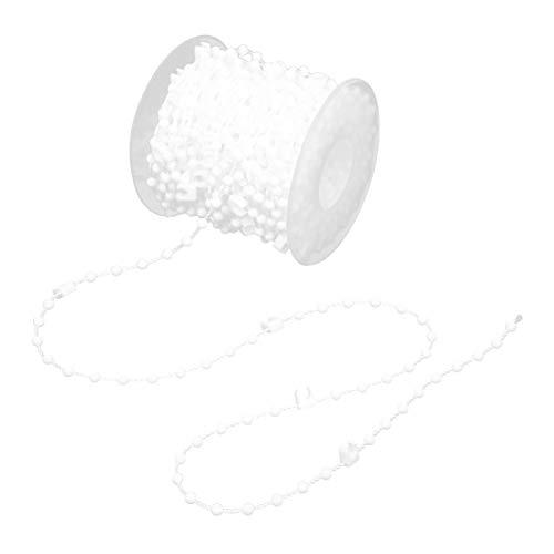Oumefar Hierro de Superficie Lisa de 10M y Material Pom Cadena de Cuentas de Cortina Artesanal Exquisita Simple y Moderna para Cortina Vertical(10M(10CM))