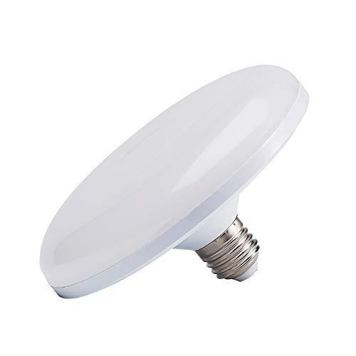Cakunmik Bombilla LED Super Bright Flying Saucer Light 6500k Hogar E27 Tornillo Lámpara Ahorro de energía Fábrica Iluminación Lámpara eléctrica, Utilizada en el sótano de Garaje (1 Paquete),36w
