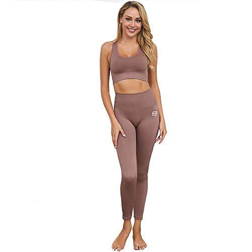 Fit Elements Set sportivo da donna 2 Pezzi Tuta Yoga Set con Top e Leggings per Palestra Yoga e Pilates, TONGA BR-M