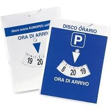 DISCO ORARIO EUROPEO F.TO 14,5 X 11 CM - 1 PEZZO
