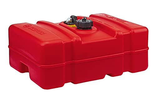 Scepter 08669 Rectangular Fuel Tank - 12 Gallon Low Profile,Red