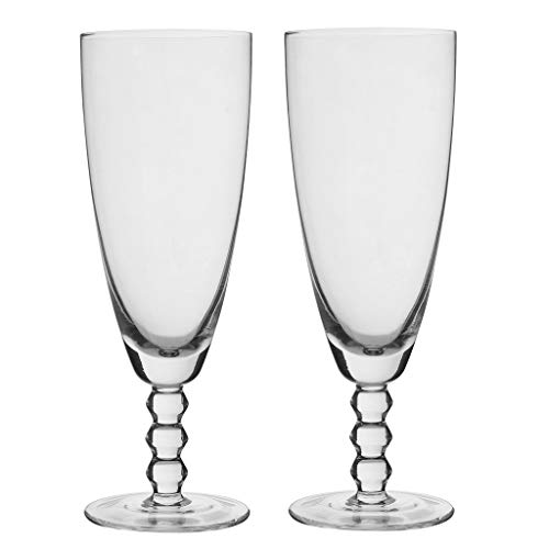 Set van 2 Deluxe 380ml (13oz) geëtst glas kristal Cocktail Coupe schotel glazen