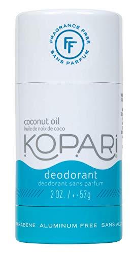 Kopari Aluminum-Free Deodorant Fragrance Free for Sensitive Skin   Non-Toxic, Paraben Free, Gluten Free & Cruelty Free Men's and Women's Deodorant   Made with Organic Coconut Oil   2.0 oz