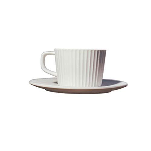 Set taza de café desayuno japonés taza de leche por la tarde té nórdico retro helado a rayas gres taza de café y platillo conjunto hogar restaurante hotel