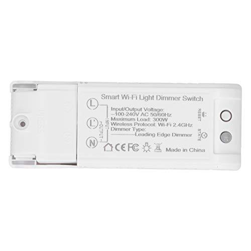 Jacksing Interruptor de atenuación Atenuador de luz WiFi Inteligente, Hogar Inteligente Interruptor de atenuación de Bricolaje Interruptor de Temporizador de Control de Voz para teléfono móvil