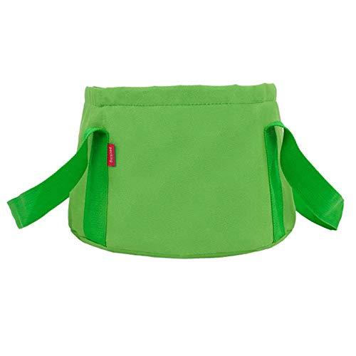 Alberta Home Stuff Anglerausrüstung Küchenartikel Faltbare Waschwanne Wasser-Tasche Eimer Camping Waschbecken Folding Eimer Eimer Becken-grün (Color : Green)