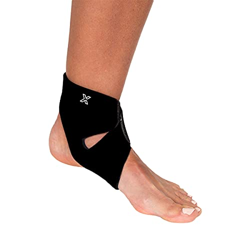 body helix Ankle Compression Sleeve - X-Fit Ankle Helix Wrap Support Brace - Black, Medium