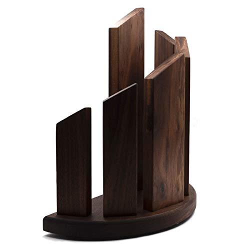 Soporte magnético de madera fuerte magnético para cuchillos de cocina de estilo occidental, soporte magnético para cuchillos