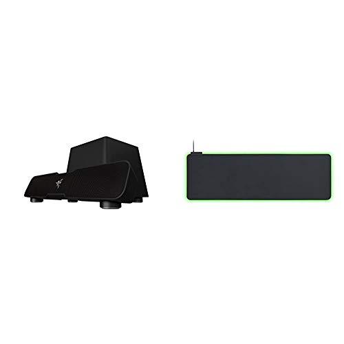 Razer Leviathan Soundsystem (mit Dolby 5.1 Surround Sound) & Goliathus Extended Chroma - Extra große weiche XXL Gaming Maus-Matte mit RGB Beleuchtung (Kabelhalterung, Stoff-Oberfläche) Schwarz