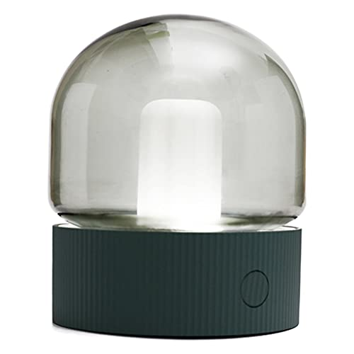FLAMEER Mini lámpara de Mesa Recargable luz de Noche de Arte atenuación Continua para el Dormitorio Bar Oficina Decoración de luz Ornamental 1200mAh - Verde