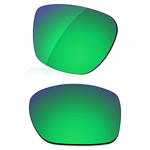 LenzReborn Lente polarizada de repuesto para gafas de sol Arnette Witch Doctor AN4177, Verde césped – Polarizado Espejo, Talla única