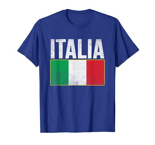 Vintage Italia bandera italiana orgullo hombres mujeres gráfico Camiseta