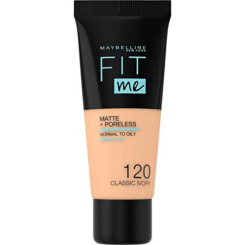 Maybelline Fit Me Matte & Poreless Foundation 120 Classic Ivory 30ml