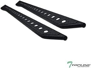 Topline Autopart Textured Black Round Pattern Rock Slider Rocker Style Side Step Rail Nerf Bars Running Boards For 19-21 Ford Ranger SuperCrew (Crew) Cab